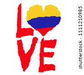 love colombia  america. vintage ... | Shutterstock .eps vector #1111210985