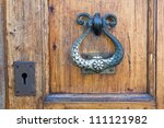 antique doorknob with a keyhole | Shutterstock . vector #111121982
