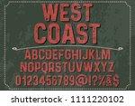 vintage font handcrafted vector ...   Shutterstock .eps vector #1111220102