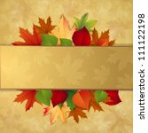autumn background with leaves | Shutterstock .eps vector #111122198