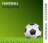 football on green grass... | Shutterstock .eps vector #1111224368