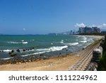 beautiful coastal nha trang... | Shutterstock . vector #1111224962