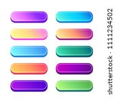 vector set of gradient buttons...