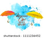 innovative sale abstract or... | Shutterstock .eps vector #1111236452