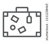 travel bag line icon  travel... | Shutterstock .eps vector #1111238465