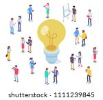 idea concept image with... | Shutterstock .eps vector #1111239845