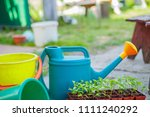 gardening on a country site in... | Shutterstock . vector #1111240292
