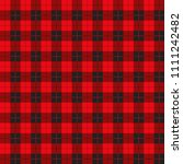 buffalo plaid pattern with... | Shutterstock .eps vector #1111242482