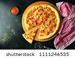delicious homemade pizza   Shutterstock . vector #1111246535