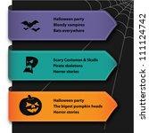 halloween banner | Shutterstock .eps vector #111124742