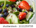 close up of tasty salad with... | Shutterstock . vector #1111253735