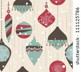 seamless christmas pattern | Shutterstock .eps vector #111125786