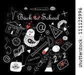 back to school sketch   Shutterstock .eps vector #111125996