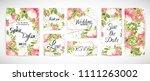 wedding floral template invite  ...   Shutterstock .eps vector #1111263002