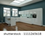 3d illustration of a white... | Shutterstock . vector #1111265618