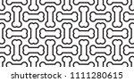 bone seamless pattern dog bone... | Shutterstock .eps vector #1111280615