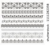 ancient greek pattern. set of... | Shutterstock .eps vector #1111282358