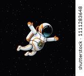 astronaut in deep space   Shutterstock .eps vector #1111283648