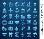 medical icon set | Shutterstock .eps vector #111128756