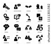 set of 16 icons such as group ... | Shutterstock .eps vector #1111301582