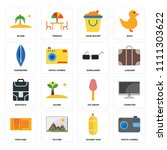 set of 16 icons such as photo... | Shutterstock .eps vector #1111303622
