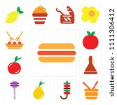 set of 13 simple editable icons ... | Shutterstock .eps vector #1111306412