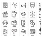 set of 16 icons such as browser ... | Shutterstock .eps vector #1111307102