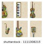 music magazine layout flyer...   Shutterstock . vector #1111308215