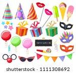celebration party carnival... | Shutterstock .eps vector #1111308692