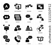 set of 16 icons such as video... | Shutterstock .eps vector #1111310912