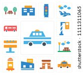 set of 13 simple editable icons ... | Shutterstock .eps vector #1111311065