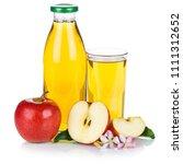 apple juice apples fruit fruits ... | Shutterstock . vector #1111312652