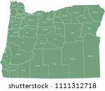 oregon county map vector... | Shutterstock .eps vector #1111312718