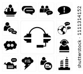 set of 13 simple editable icons ... | Shutterstock .eps vector #1111314152