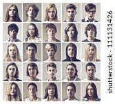 Composition Of Portraits Of...