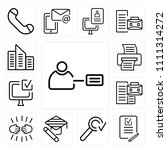set of 13 simple editable icons ... | Shutterstock .eps vector #1111314272