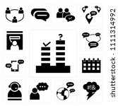 set of 13 simple editable icons ... | Shutterstock .eps vector #1111314992