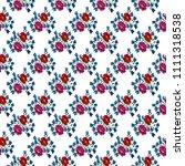 seamless pattern flowers... | Shutterstock . vector #1111318538