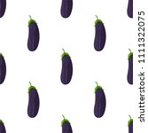 seamless pattern with aubergines | Shutterstock .eps vector #1111322075