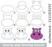 kid game to develop drawing... | Shutterstock .eps vector #1111325252