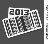 vector sticker with code   year ... | Shutterstock .eps vector #111133052