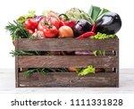 fresh multi colored vegetables... | Shutterstock . vector #1111331828