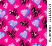 abstract seamless heart pattern ... | Shutterstock . vector #1111333808