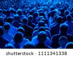 audience listens to the... | Shutterstock . vector #1111341338