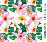 bright beautiful green floral...   Shutterstock . vector #1111342712