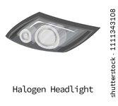 halogen car icon. isometric... | Shutterstock . vector #1111343108