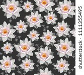 seamless vintage floral pattern ... | Shutterstock .eps vector #1111355495