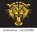 leopard angry face tattoo.... | Shutterstock .eps vector #1111355585