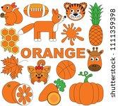 orange objects color elements... | Shutterstock .eps vector #1111359398