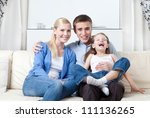 happy family has a rest | Shutterstock . vector #111136265
